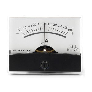 PM-2/+-50UA | Moving coil panel meter, 0.05 mA-0