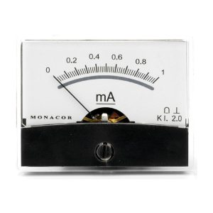 PM-2/1MA | Moving coil panel meter, 1 mA-0