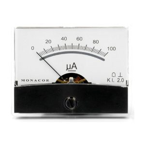 PM-2/100UA | Moving coil panel meter, 0.1 mA-0