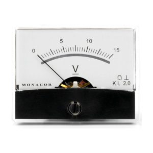 PM-2/15V | Moving coil panel meter, 15 V-0