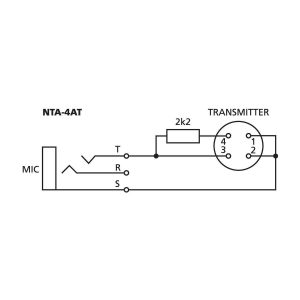 NTA-4AT | Adapter for headband microphones and earband microphones-5420